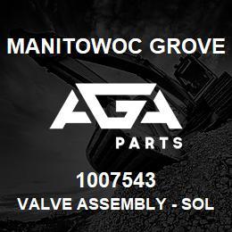 1007543 Manitowoc Grove VALVE ASSEMBLY - SOLENOID | AGA Parts