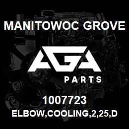 1007723 Manitowoc Grove ELBOW,COOLING,2,25,DIESEL | AGA Parts