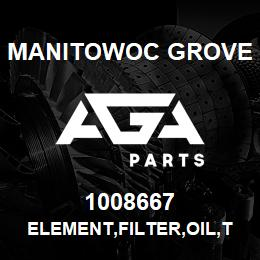 1008667 Manitowoc Grove ELEMENT,FILTER,OIL,TRNSM,HTEMP | AGA Parts