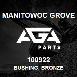 100922 Manitowoc Grove BUSHING, BRONZE | AGA Parts