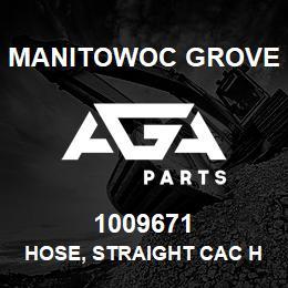 1009671 Manitowoc Grove HOSE, STRAIGHT CAC HUMP | AGA Parts