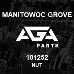 101252 Manitowoc Grove NUT | AGA Parts