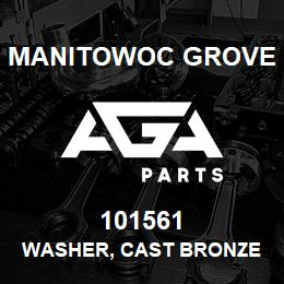 101561 Manitowoc Grove WASHER, CAST BRONZE | AGA Parts