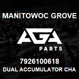 7926100618 Manitowoc Grove DUAL ACCUMULATOR CHARGE VALVE | AGA Parts