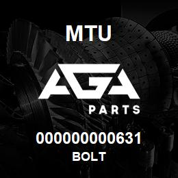 000000000631 MTU Bolt   AGA Parts