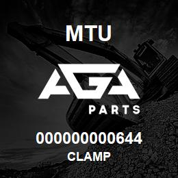 000000000644 MTU CLAMP | AGA Parts