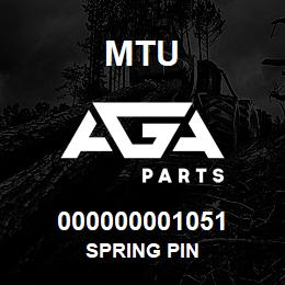 000000001051 MTU Spring Pin | AGA Parts