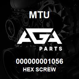 000000001056 MTU HEX SCREW | AGA Parts