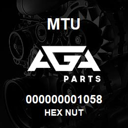 000000001058 MTU HEX NUT | AGA Parts