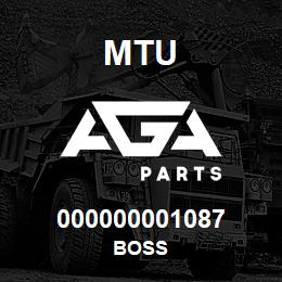 000000001087 MTU BOSS | AGA Parts