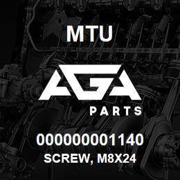 000000001140 MTU Screw, M8x24 | AGA Parts