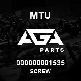 000000001535 MTU Screw | AGA Parts