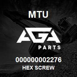 000000002276 MTU HEX SCREW | AGA Parts
