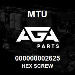 000000002625 MTU HEX SCREW | AGA Parts