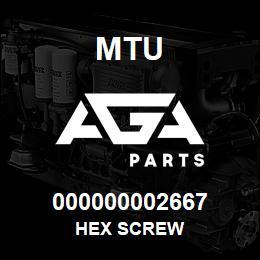 000000002667 MTU HEX SCREW | AGA Parts