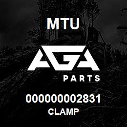 000000002831 MTU CLAMP | AGA Parts