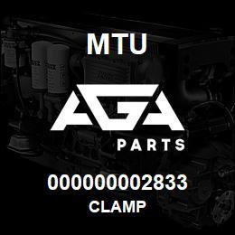 000000002833 MTU CLAMP | AGA Parts
