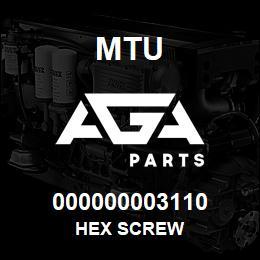 000000003110 MTU HEX SCREW | AGA Parts