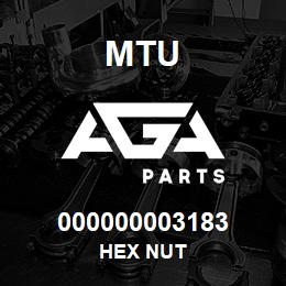 000000003183 MTU HEX NUT | AGA Parts