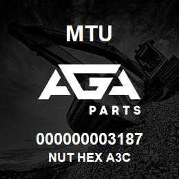 000000003187 MTU NUT HEX A3C | AGA Parts