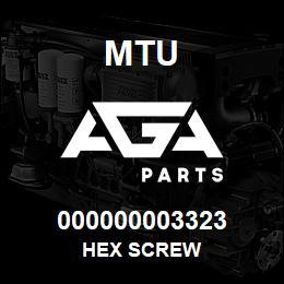 000000003323 MTU HEX SCREW | AGA Parts