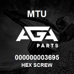 000000003695 MTU HEX SCREW   AGA Parts
