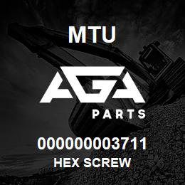 000000003711 MTU HEX SCREW | AGA Parts