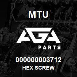 000000003712 MTU HEX SCREW | AGA Parts