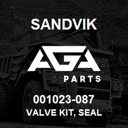 001023-087 Sandvik VALVE KIT, SEAL | AGA Parts