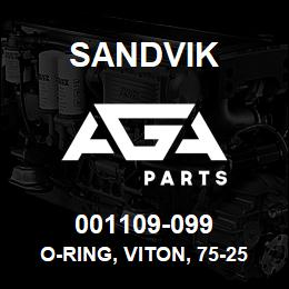 001109-099 Sandvik O-RING, VITON, 75-257 | AGA Parts