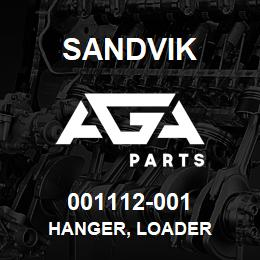 001112-001 Sandvik HANGER, LOADER | AGA Parts