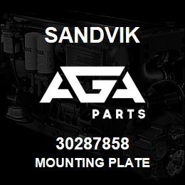 30287858 Sandvik MOUNTING PLATE | AGA Parts