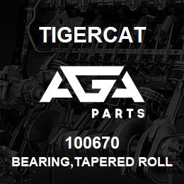 100670 Tigercat BEARING,TAPERED ROLLER   AGA Parts