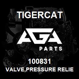 100831 Tigercat VALVE,PRESSURE RELIEF 138/290 BAR | AGA Parts