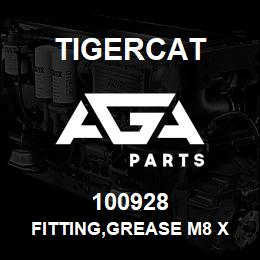 100928 Tigercat FITTING,GREASE M8 X 1 STRAIGHT USE ON > | AGA Parts