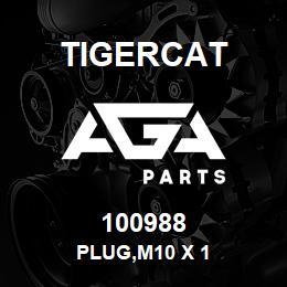 100988 Tigercat PLUG,M10 X 1 | AGA Parts