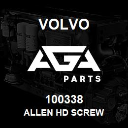 100338 Volvo Allen Hd Screw | AGA Parts