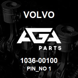 1036-00100 Volvo PIN_NO 1 | AGA Parts