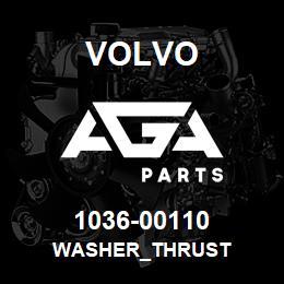 1036-00110 Volvo WASHER_THRUST | AGA Parts