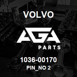 1036-00170 Volvo PIN_NO 2 | AGA Parts