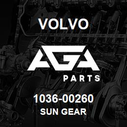 1036-00260 Volvo SUN GEAR | AGA Parts
