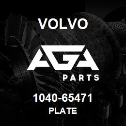 1040-65471 Volvo PLATE | AGA Parts