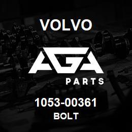 1053-00361 Volvo BOLT | AGA Parts