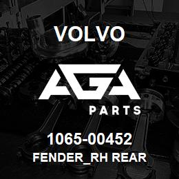 1065-00452 Volvo FENDER_RH REAR | AGA Parts