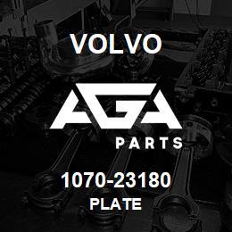 1070-23180 Volvo PLATE | AGA Parts