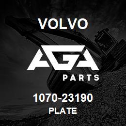 1070-23190 Volvo PLATE | AGA Parts