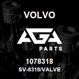 1078318 Volvo SV-8318/VALVE | AGA Parts