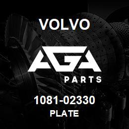 1081-02330 Volvo PLATE | AGA Parts
