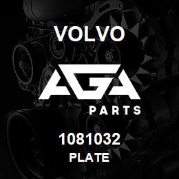 1081032 Volvo Plate | AGA Parts