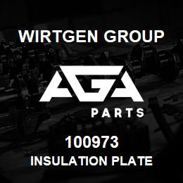 100973 Wirtgen Group INSULATION PLATE | AGA Parts